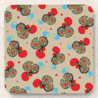 Famous Rooster of Barcelos Nr 06 Pattern Drink Coasters