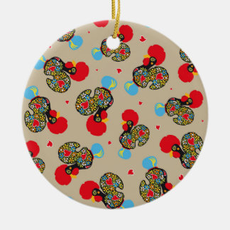 Famous Rooster of Barcelos Nr 06 Pattern Round Ceramic Ornament