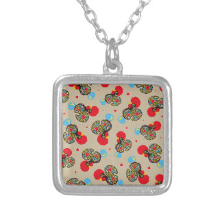Famous Rooster of Barcelos Nr 06 Pattern Silver Plated Necklace