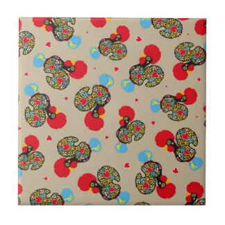Famous Rooster of Barcelos Nr 06 Pattern Tiles