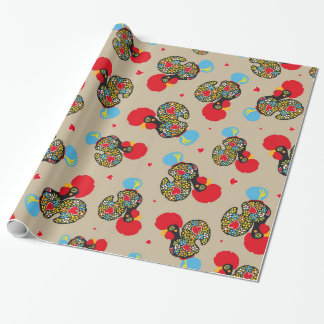 Famous Rooster of Barcelos Nr 06 Pattern Wrapping Paper
