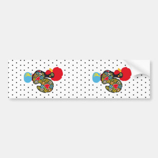 Famous Rooster of Barcelos Nr 06 - Polka Dots Bumper Sticker