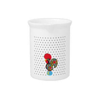 Famous Rooster of Barcelos Nr 06 - Polka Dots Drink Pitcher