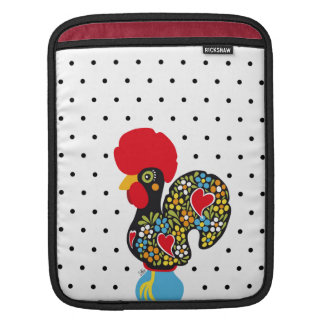 Famous Rooster of Barcelos Nr 06 - Polka Dots iPad Sleeve