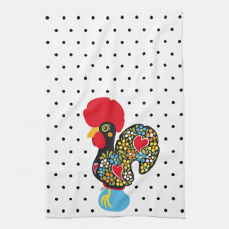 Famous Rooster of Barcelos Nr 06 - Polka Dots Kitchen Towel