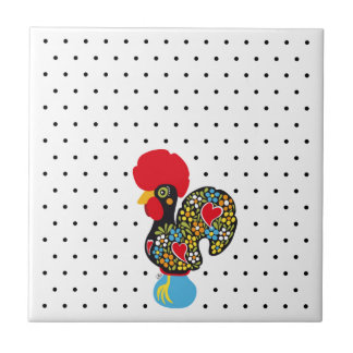Famous Rooster of Barcelos Nr 06 - Polka Dots Tiles