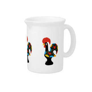 Famous Rooster of Barcelos Nr 09 Beverage Pitcher