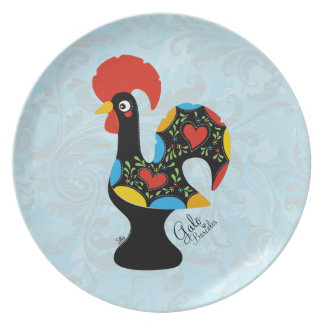 Famous Rooster of Barcelos Nr 09 Party Plate