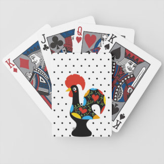 Famous Rooster of Barcelos Nr 09 - Polka Dots Bicycle Playing Cards