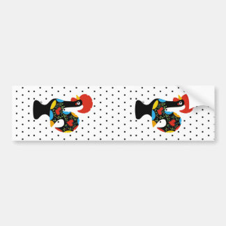Famous Rooster of Barcelos Nr 09 - Polka Dots Bumper Sticker