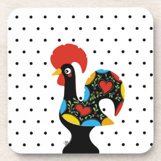 Famous Rooster of Barcelos Nr 09 - Polka Dots Coaster