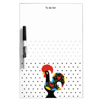 Famous Rooster of Barcelos Nr 09 - Polka Dots Dry Erase Board