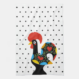 Famous Rooster of Barcelos Nr 09 - Polka Dots Kitchen Towel