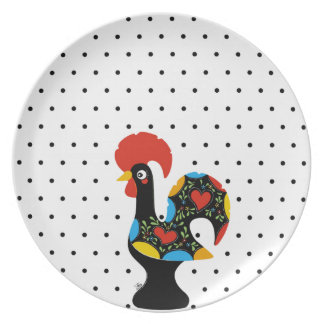 Famous Rooster of Barcelos Nr 09 - Polka Dots Plate
