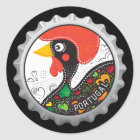 Famous Rooster of Portugal Nr 02 Classic Round Sticker