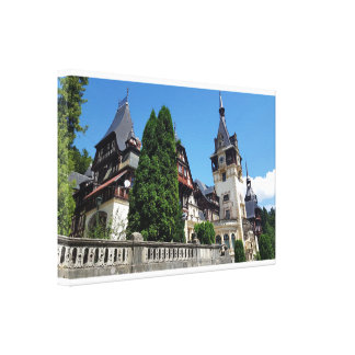 Famous royal castle Peles in Sinaia, Romania. Canvas Print