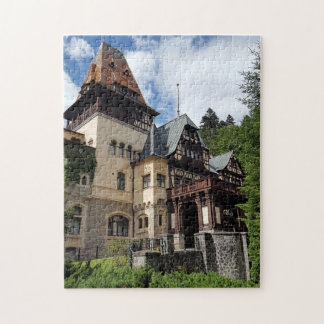 Famous royal castle Peles in Sinaia, Romania. Jigsaw Puzzle