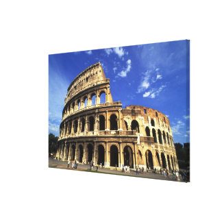 Famous ruins of the Coliseum in Rome Italy Canvas Print