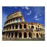 Famous ruins of the Coliseum in Rome Italy Poster