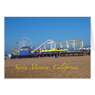 Famous Santa Monica, California Pier Ferris Wheel Card