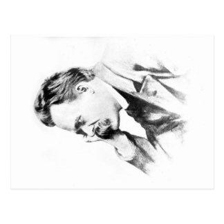 famous thinker: Friedrich Nietzsche Postcard