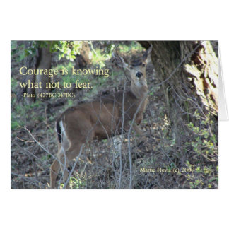 Famous Words: Courage - Deer Poster Card