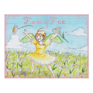 Famy Fee postcard - Gänseblümchenfee