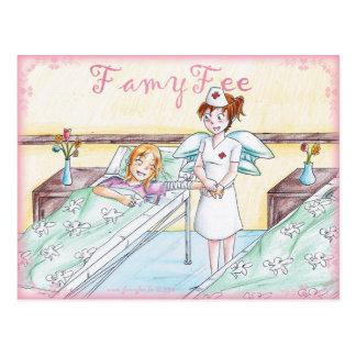 Famy Fee postcard - Krankenschwesterfee