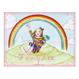Famy Fee postcard - Regenbogenfee
