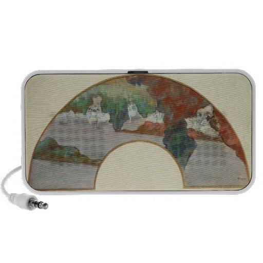 Fan, c.1879 (gouache & pastel on silk) notebook speakers