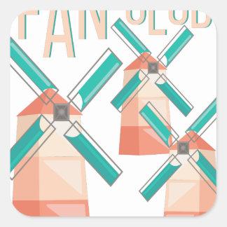 Fan Club Square Sticker