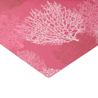 Fan Coral Print, Shades of Coral Pink Tissue Paper