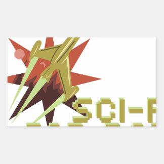 Fan de la science fiction sticker rectangulaire