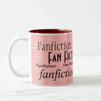 """Fan Fiction Fanatic"" Two-Tone Coffee Mug"