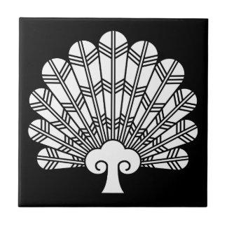 Fan of hawk feathers ceramic tiles
