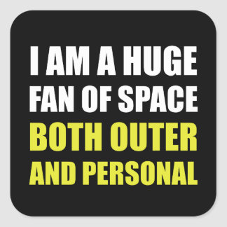 Fan Of Space Outer And Personal Square Sticker