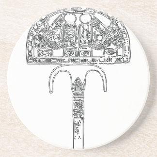 Fan of Tutenkhamun Outline Coaster