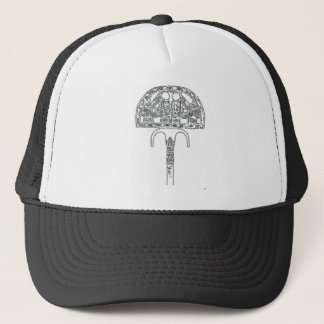 Fan of Tutenkhamun Outline Trucker Hat