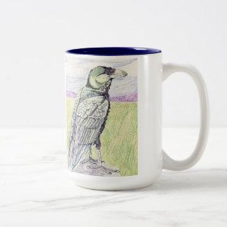 Fan Tailed Raven And Hooded Crow Two-Tone Coffee Mug