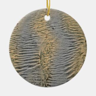 Fanad sand round ceramic ornament
