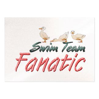 Fanatique SUPÉRIEUR d'équipe de natation Modèle De Carte De Visite