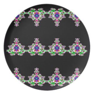 Fanciful Figurines Abstract Design Dinner Plates