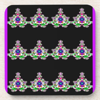 Fanciful Figurines Abstract Design Drink Coasters
