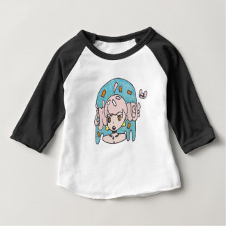 Fanciful goldfish girl baby T-Shirt