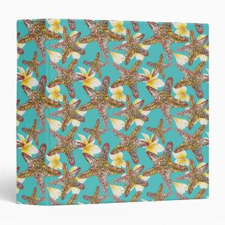 Fanciful Starfish Pattern Vinyl Binders