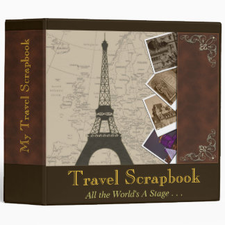 Fancy 2 Inch Binder Travel Scrapbook Organizer