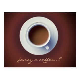 Fancy a coffee postcard