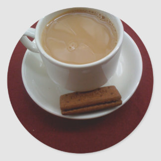 Fancy a cuppa classic round sticker