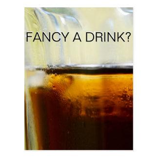 Fancy A Drink Card Postcard