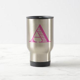 fancy A in pink Travel Mug